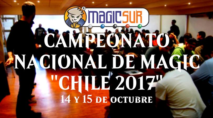 Anuncio Campeonato Nacional de Magic de Chile 2017